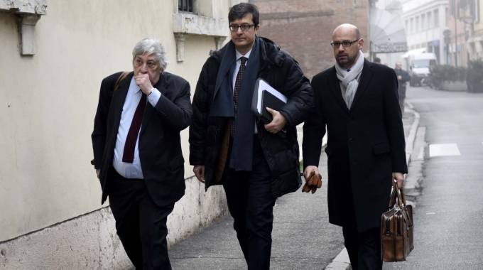 Antonio Blandini assieme ai suoi legali