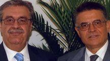 L'ex direttore Gentili (a destra) e il suo vice Collinucci