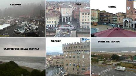 La situazione in Toscana dalle principali webcam