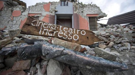 Terremoto, le macerie di Amatrice (Ansa)