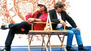 Vasco e Roman Polanski al Festival di Venezia del 1996 per la presentazione del video 'Gli angeli' '© 1996 Foto di Roberto Villani per Chiaroscuro creative'