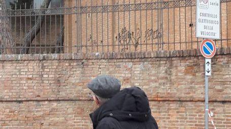 Le scritte sulle mura restaurate