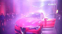 Stelvio, il Suv Alfa Romeo presentato nella sede del Carlino (foto Schicchi)