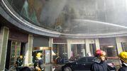 Cina, l'Incendio in un hotel a Nanchang (Ansa)