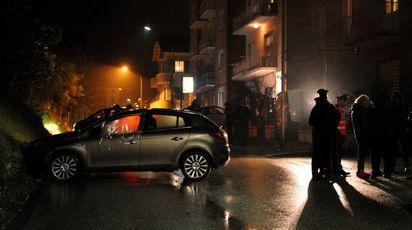 La scena della sparatoria a Monte San Giusto (Calavita)