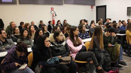 Gli studenti presenti alla donazione