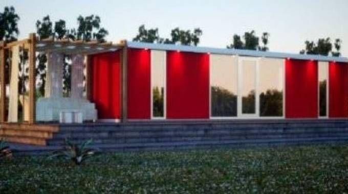 Rimini casette prefabbricate con veranda e giardino per i for Giardino rimini