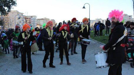 Un momento del carnevale a Novoli