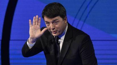 Matteo Renzi a 'Che tempo che fa' di Fazio (Ansa)