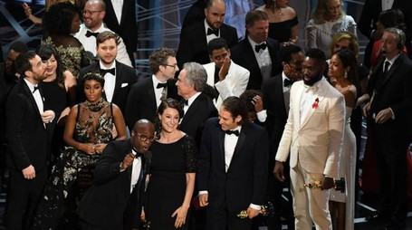 Oscar 2017, il cast di Moonlight (Afp)