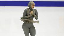 La pattinatrice degli Emirati Arabi Uniti, Zahra Lari