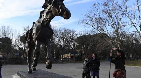 Dalì Experience, 'Cavallo con orologio molle' ai Giardini Margherita (foto Schicchi)
