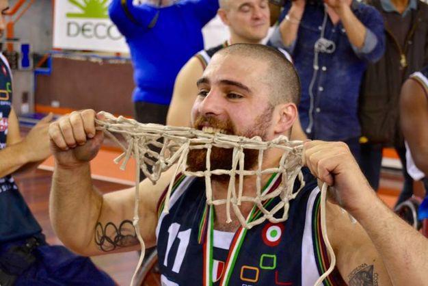 I festeggiamenti al termine della partita