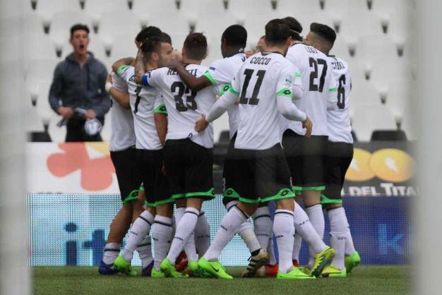 L'esultanza per il gol di Ciano (LaPresse)