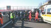 Polstrada, vigili del fuoco e personale del 118 sul posto (Antic)
