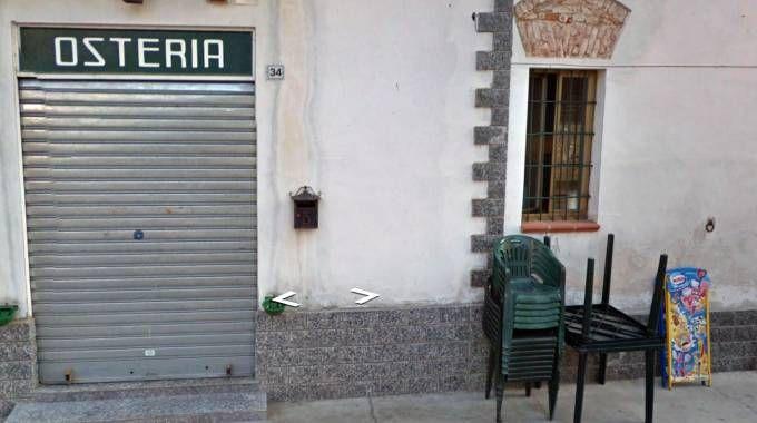 L'esterno del bar-ristorante di Casaletto Lodigiano