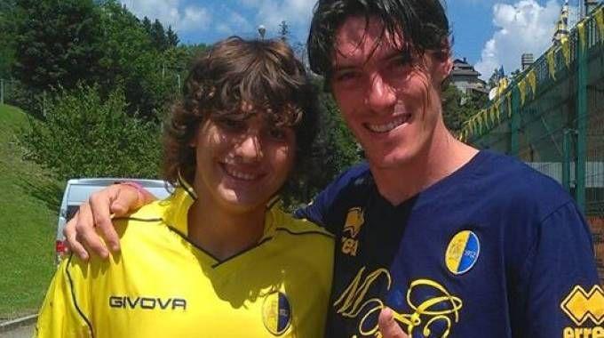 A sinistra, Valerio Braschi