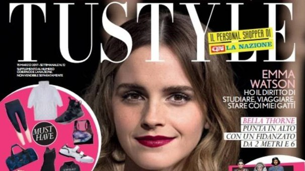 La copertina di Tustyle personalizzata con i marchi de La Nazione