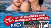 Coccole in acqua per il principe Harry e la fidanzata Meghan (Ansa)