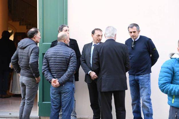 Coppolillo e Fausto, il figlio di Luciano Pezzi (foto Isolapress)