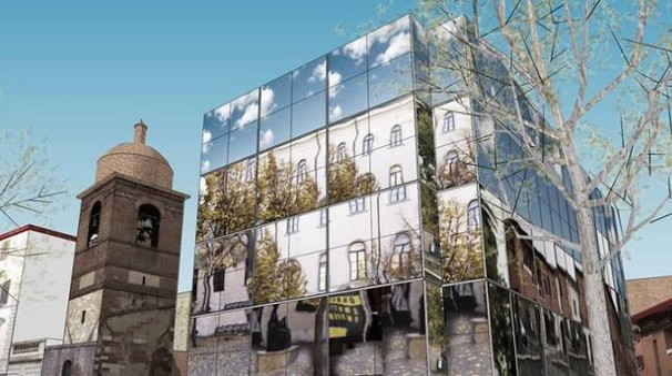 Il progetto del palazzo di vetro di Aureli