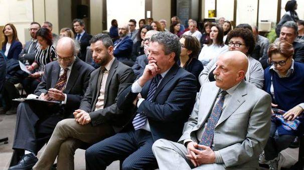 L'assemblea a palazzo di giustizia (Foto Di Pietro)