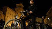 Mirco Antenucci in bicicletta (foto Businesspress)
