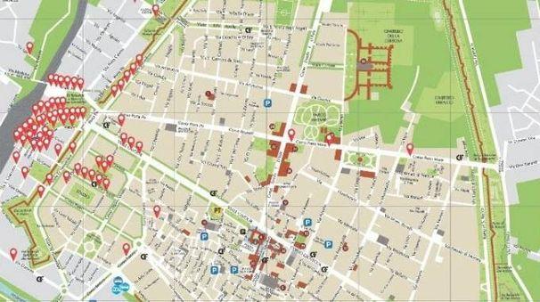La piantina dei colpi in zona Gad