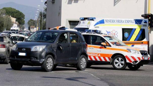 Incidente stradale tra auto e bici a Ponte a Elsa (Foto Gianni Nucci/ Germogli)