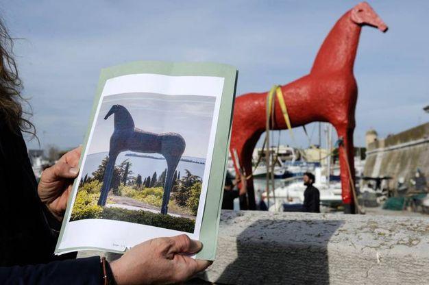 Il cavallo di Paladino (foto Emma)
