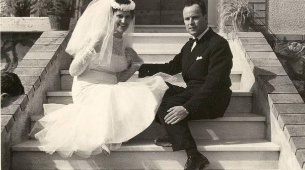 Nada e Dino Salvadori, nel giorno del matrimonio