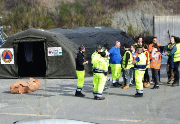 L'esercitazione di protezione civile (Foto Pasquesi)