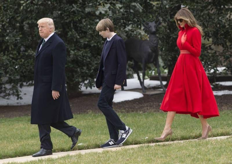 Risultati immagini per Barron Trump cresce a vista d'occhio, FOTO