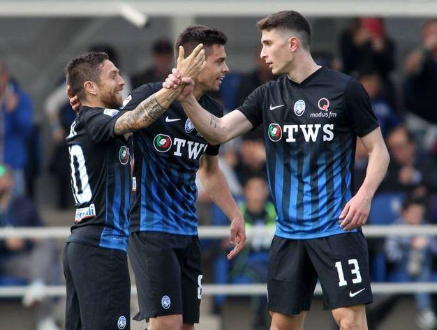 Esultanza per il gol di Papu Gomez 1-0 (Newpress)