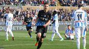 Esultanza di Grassi per il gol del 2-0 (LaPresse)