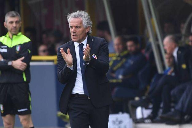 Donadoni incita i suoi giocatori (foto Schicchi)