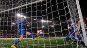 Il gol di Salah (Foto LaPresse)