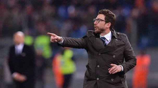 Il tecnico del Sassuolo Eusebio Di Francesco è uscito sconfitto dalla sfida dell'Olimpico contro la Roma