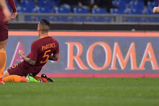 Roma-Sassuolo 1-1, Pareded (LaPresse)