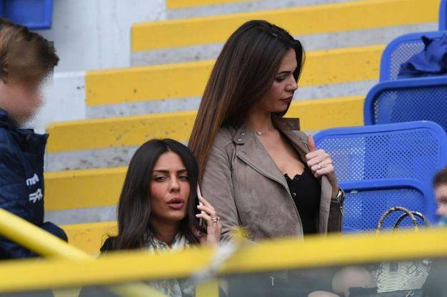 Allo stadio c'è anche Ludovica Caramis, la splendida Lady Destro (foto Schicchi)