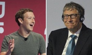Mark Zuckerberg e Bill Gates