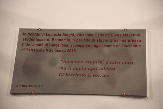 La targa (Gianluca Moggi / New Press Photo)