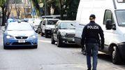Tentato omicidio a Marina Centro, la polizia sul posto (foto Migliorini Adriapress