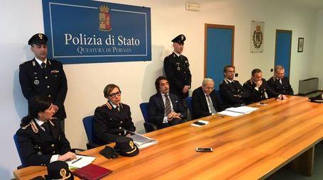La conferenza in questura a Perugia