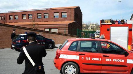 Soccorsi alla scuola di Riccione (foto Migliorini Adriapress)