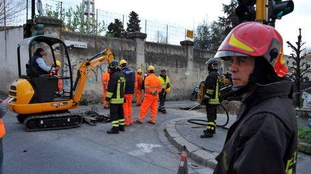 Fuga di gas in via Sestese