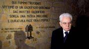 Mattarella commemora le vittime delle Fosse ardeatine. La Raggi non c'era (Ansa)