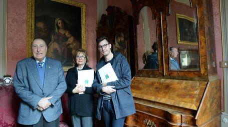 Da sinistra Giuseppe Vespignani, Sonia Faccone Padovano e Alessandro Gardella (Frasca)