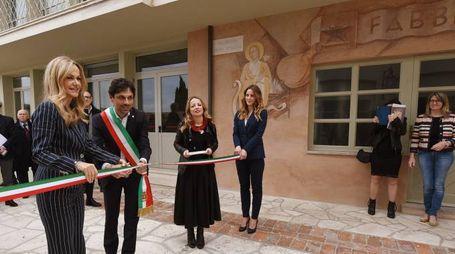 L'inaugurazione del restauro del 'borgo dei servizi' creato all'interno dello stabilimento Luisa Spagnoli nel '48