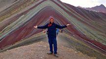 Mattia Fiorentini, 34 anni, sulle montagne del Perù